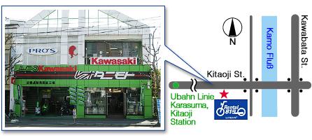 レンタルバイク洛北店 地図 RENTAL819