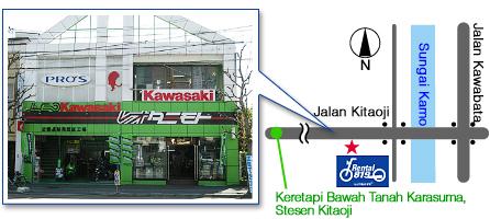 レンタルバイク洛北店地図 RENTAL819